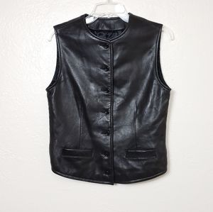 BR   BUTTERY SOFT LEATHER VEST